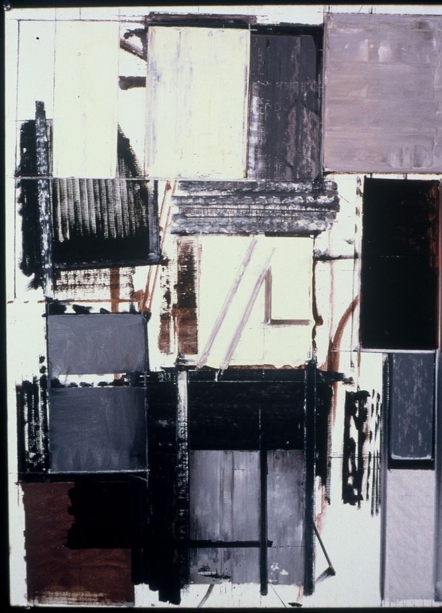 """URBAN VIEW     1981      Middletown CT 24 x 18""""    , oil on canvasboard"""
