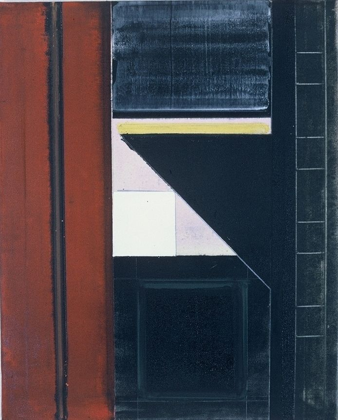 "CITY SIDEWALK    1976 Berkeley 24 x 20"", oc"