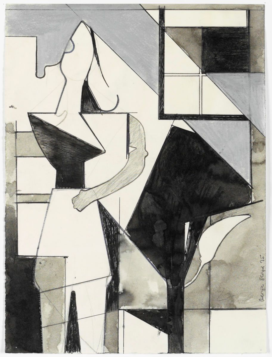 "STANDING WOMAN   1974 Berkeley 12 x 9""  , ink etc on paper private collection Newton MA"