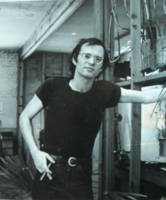 myself  circa 1972 in my Berkeley studio space