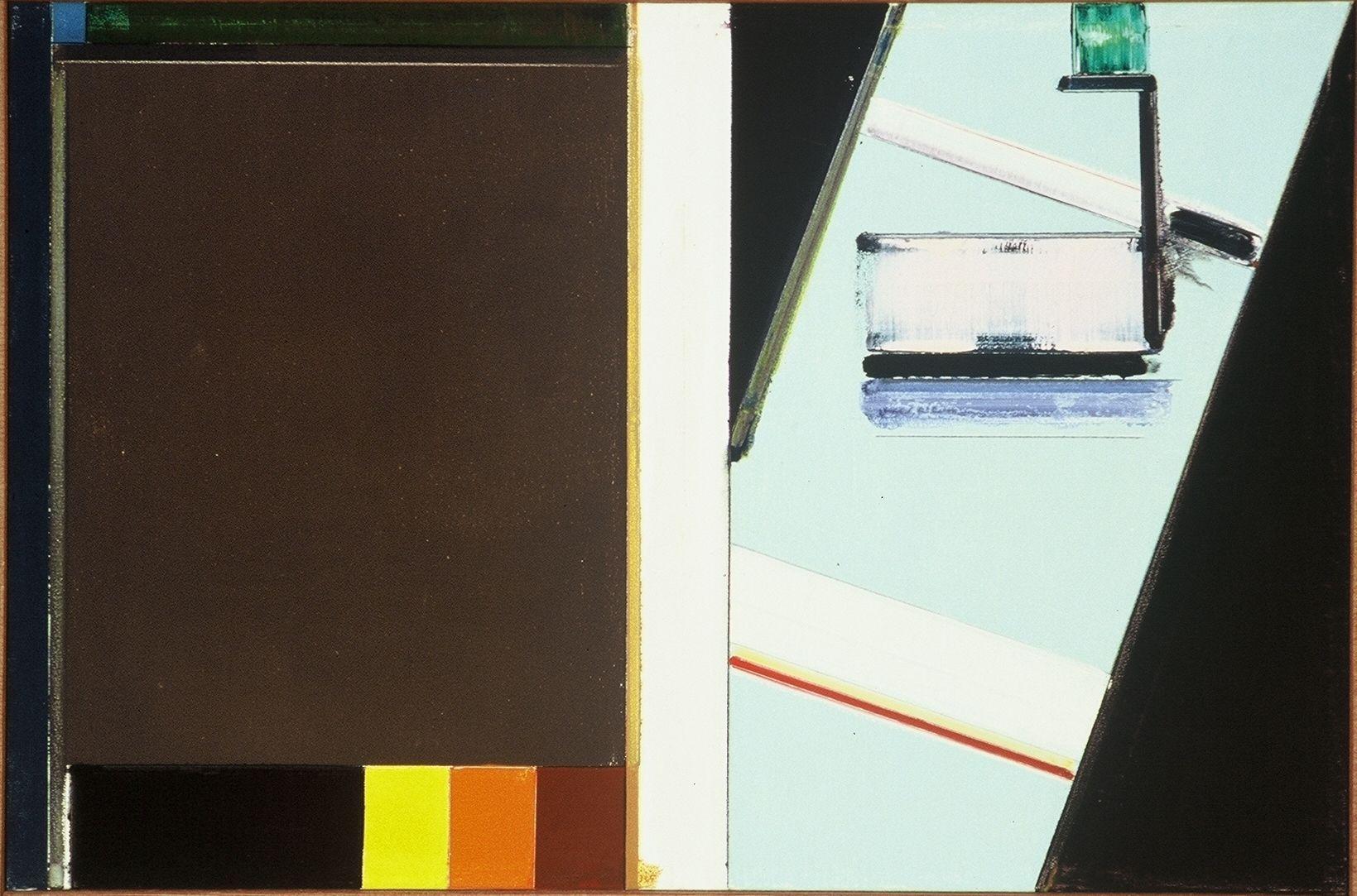 """WHITE DIVIDER  1977 Berkeley 26 x36"""" , oc"""