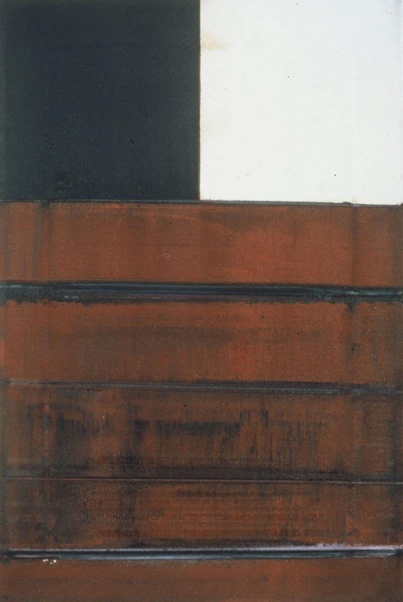 "VIEW at WALL 1976     Berkeley 18 x 12""       , oc"