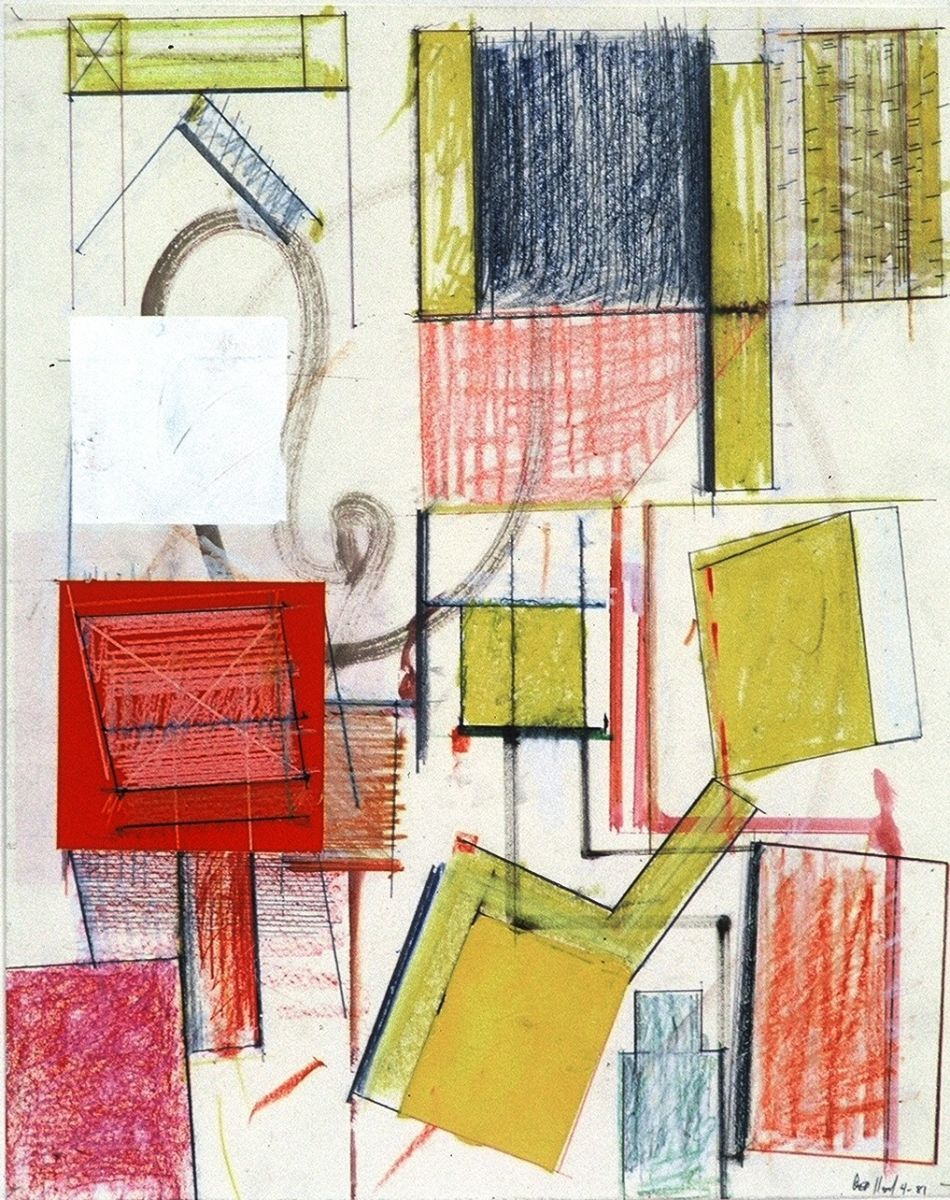 "RED YELLOW JIVE 20 x 16""   , var media on paper"