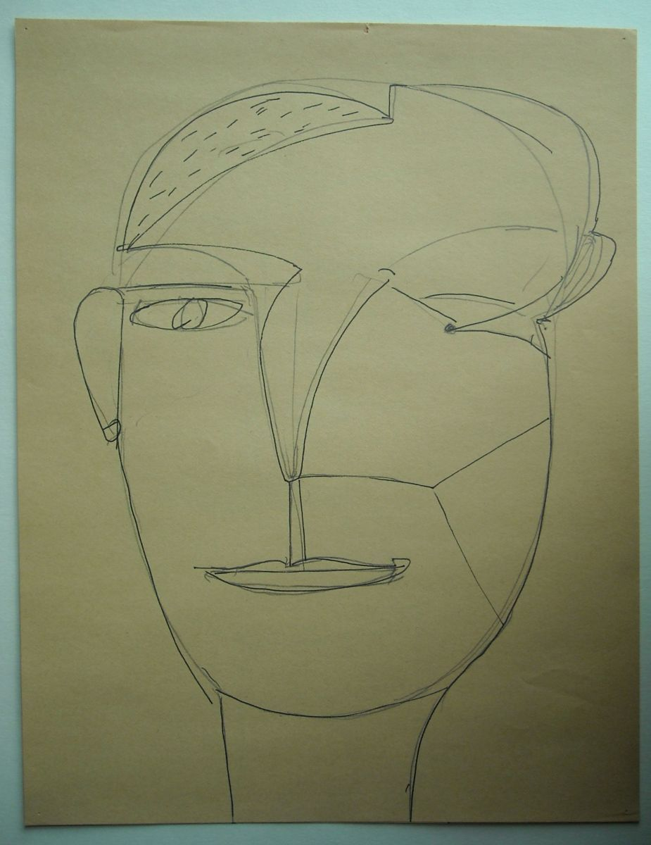 "SELF PORTRAIT , Eugene OR 1975 11 x 8.5""    , paper"
