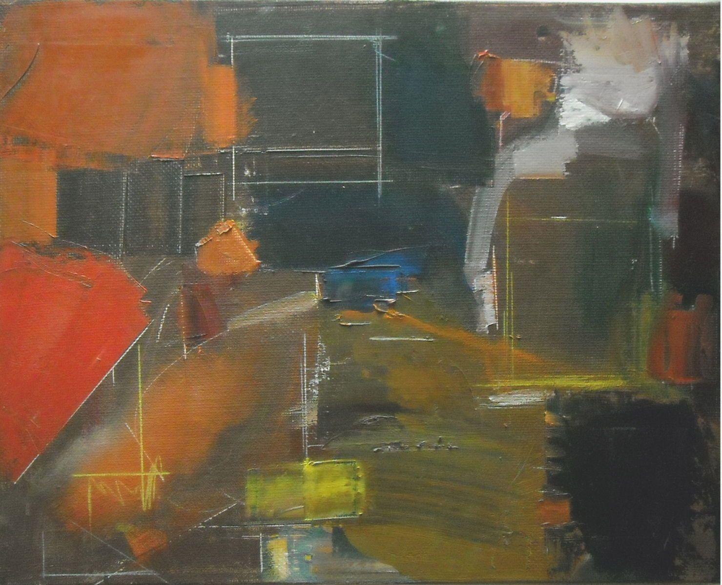 """CAPRICCIO ROMANO   2002 Rome 16 x 20""""  , oil on canvas"""