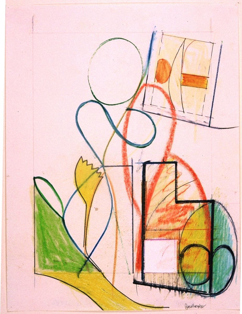 Composition w FLOWER  1980 SanFrancisco