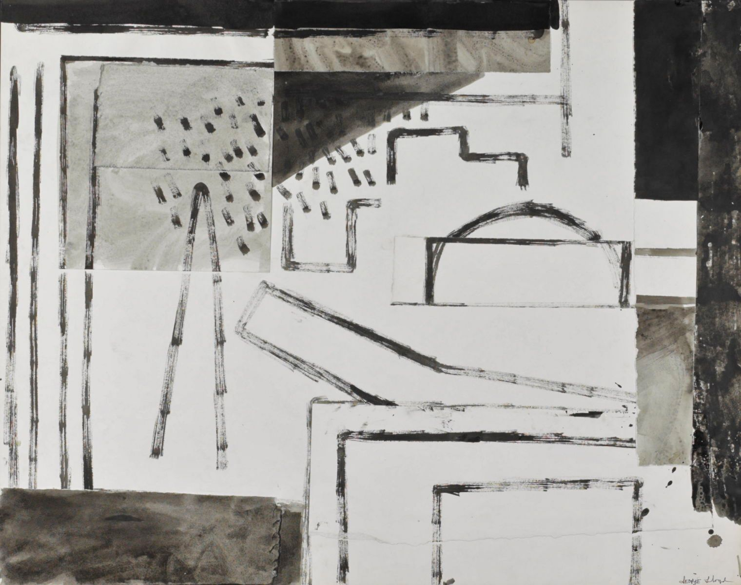 "DREAM of BYZANTIUM  1974 Berkeley 22 x 28"" , ink on paper"
