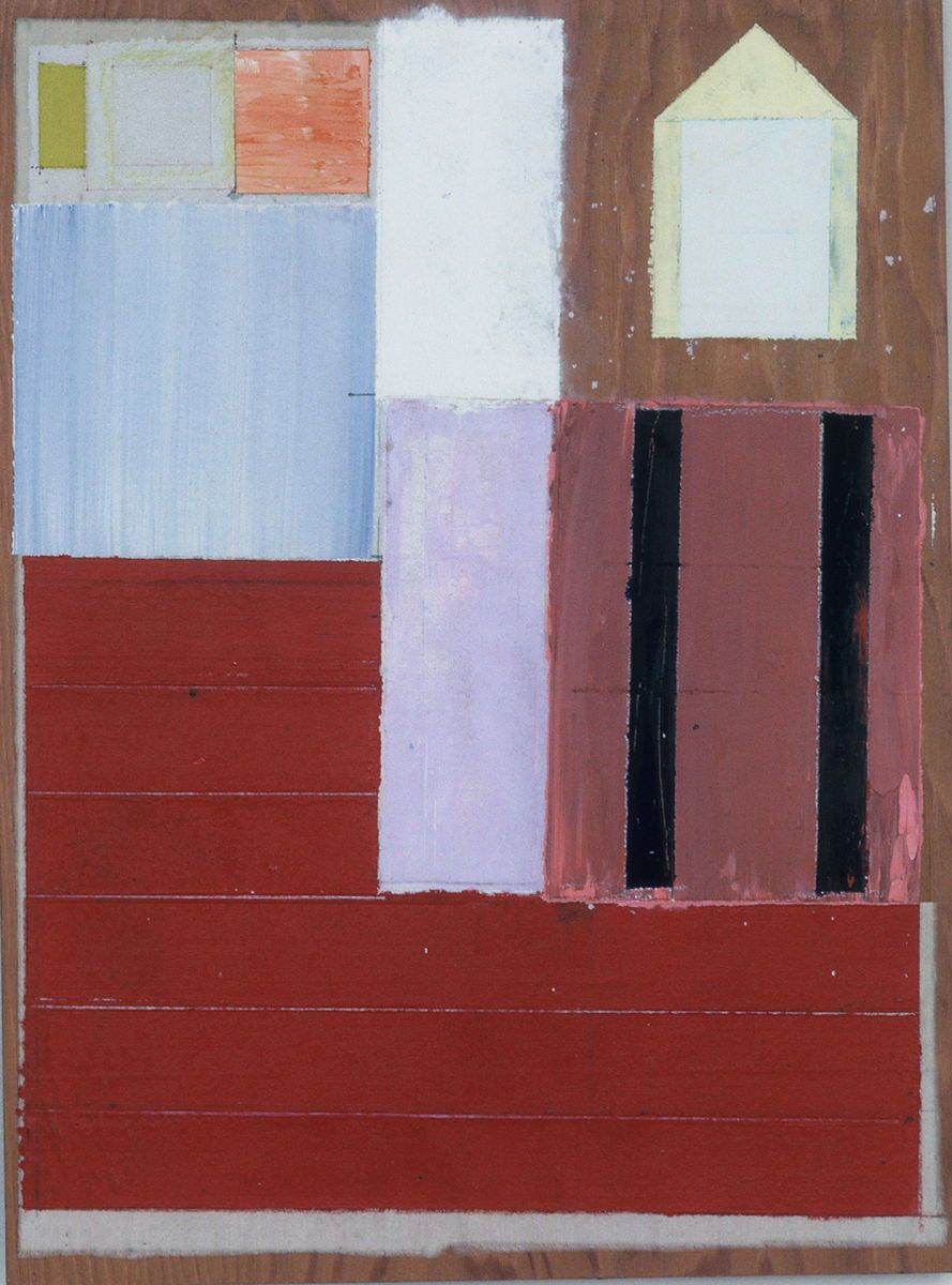 1composition_w_house_and_wall__1980___s_franciso____16x12____acrylic_on_muslin_affixed_to_plywd_