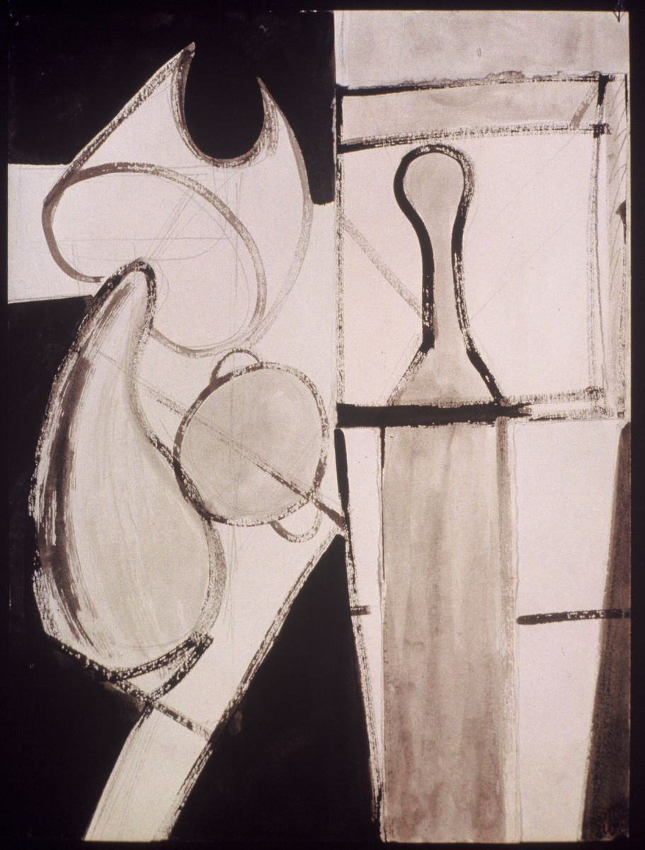 "TWO LAMPS 1973    Berkeley24 x 18"" , ink on paper"