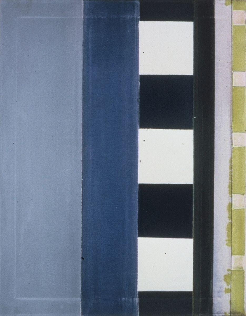"""BLUE CONVEYOR 1976 Berkeley  28 x 22 """" , oc"""