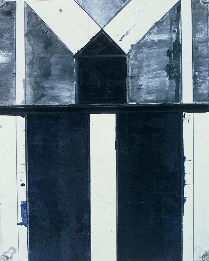 """House   and   Road  1975      10 x 8""""  , var materials on paper"""