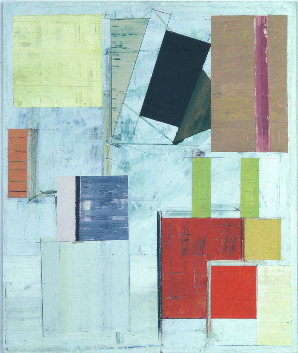 "ONEIRIC CONSTRUCT no. 2   ,   1981-2 San Francisco,24 x 20""  ,  acrylic on muslin  affixed to plywood panel"
