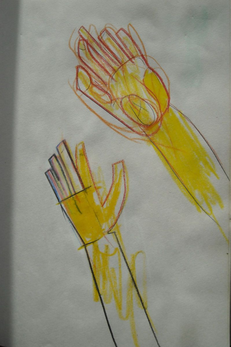 My LEFT  HAND ,  TWO VIEWS