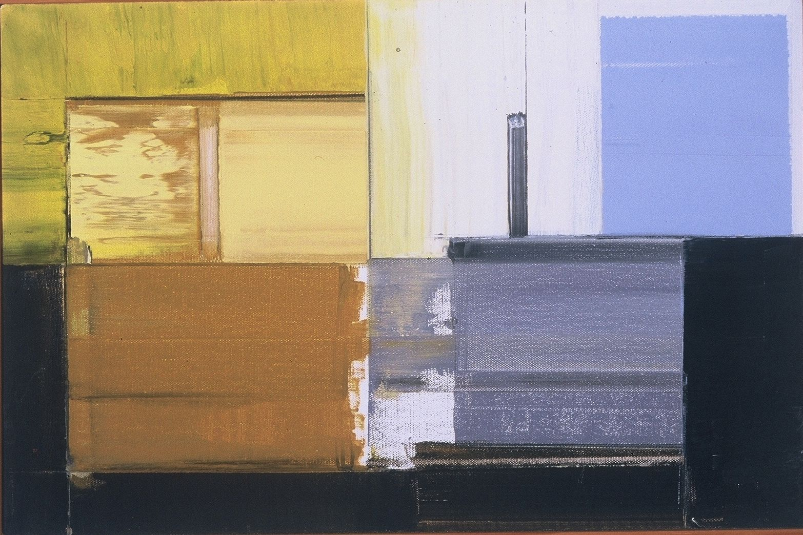 """BUILDING BLOCKS     1981     Middletown CT  12 x 16"""" , oil on canvas"""