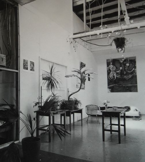 My STUDIO @ 2571 Shattuck Ave Berkeley CA circa 1972 . Site where most , if not all , of the drawings in this portfolio were made. This is also th place where the DRAWING GROUP [ then E Bischoff, J Brown, G Cook and G Lloyd ] would regularly meet on Wednes