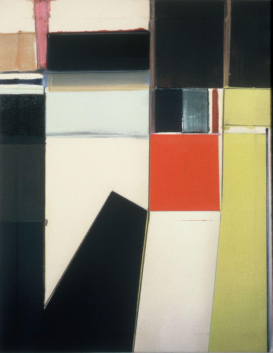 "RED GELATIN   1976       Berkeley  28 x 22""   , oil on Rhoplex sized canvas"