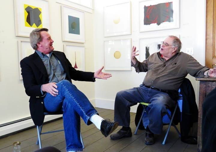 Tim Higbee and George Lloyd in conversation at  Pho Pa Gallery , Portland ME , 9 March 2014