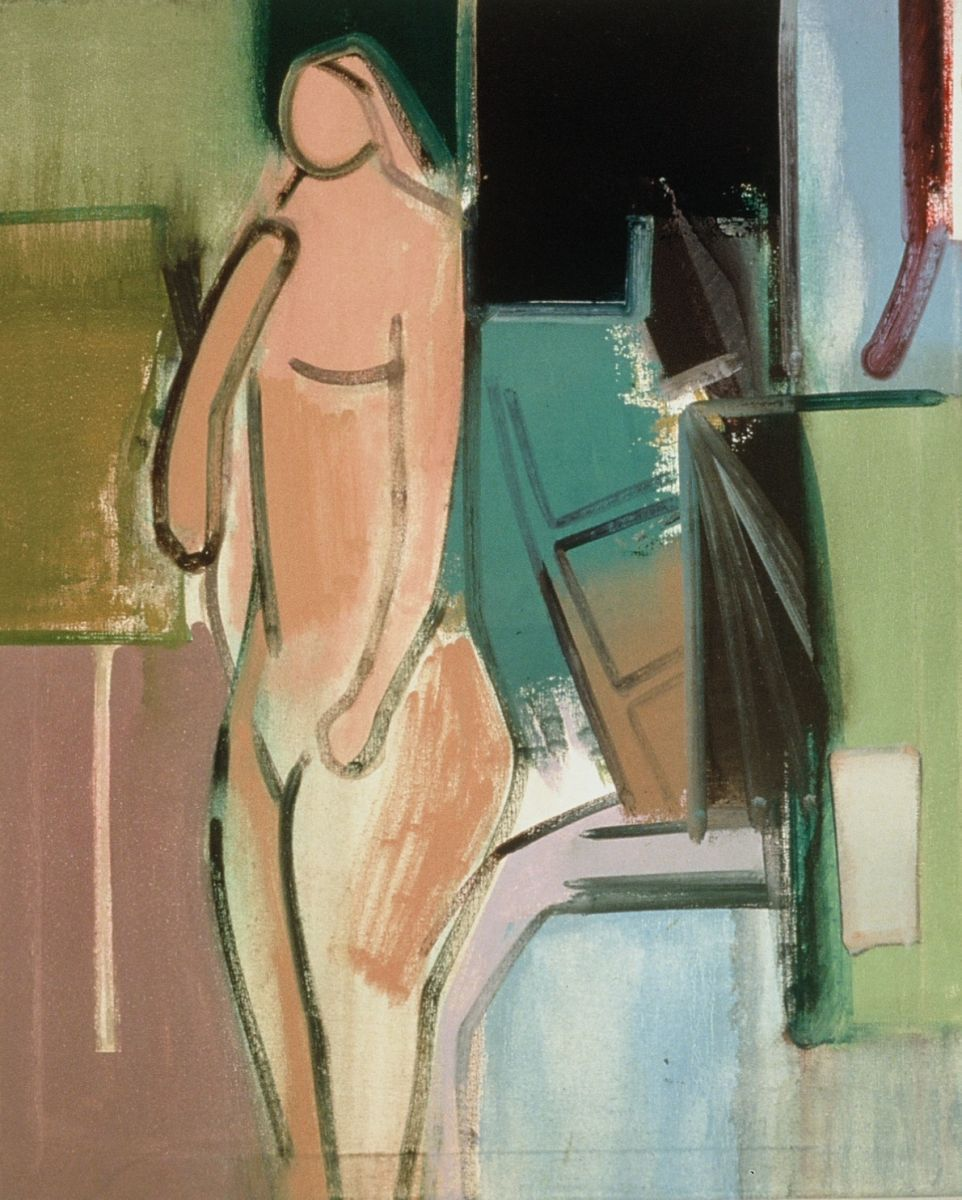 "STANDING WOMAN 1974 Berkeley 32 x 26"" , oil on canvas"