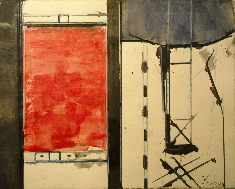 "DIVIDED   IMAGE  1976    Eugene OR 8 x 10"""