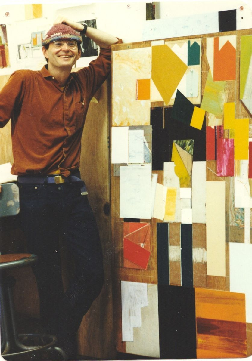 MYSELF ,   GEO LLOYD ,   w PALLET de JO JO  circa 1981in my studio at SITE , an alternative space   , 585 Mission St  , San Francisco
