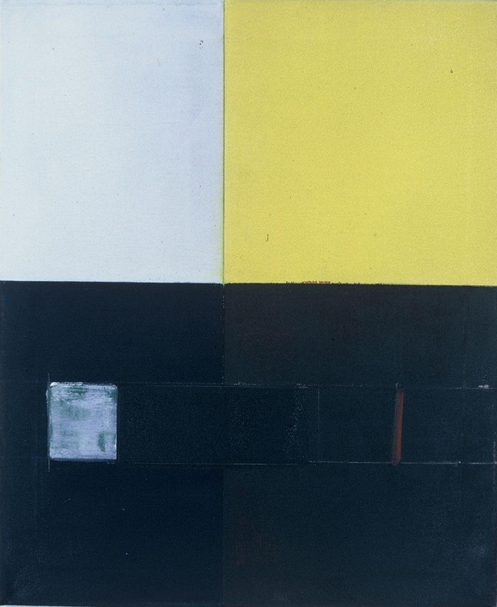 "PERISCOPIC VIEW  ,   1976  Berkeley   ,  24 x 20""   , oil on canvas"
