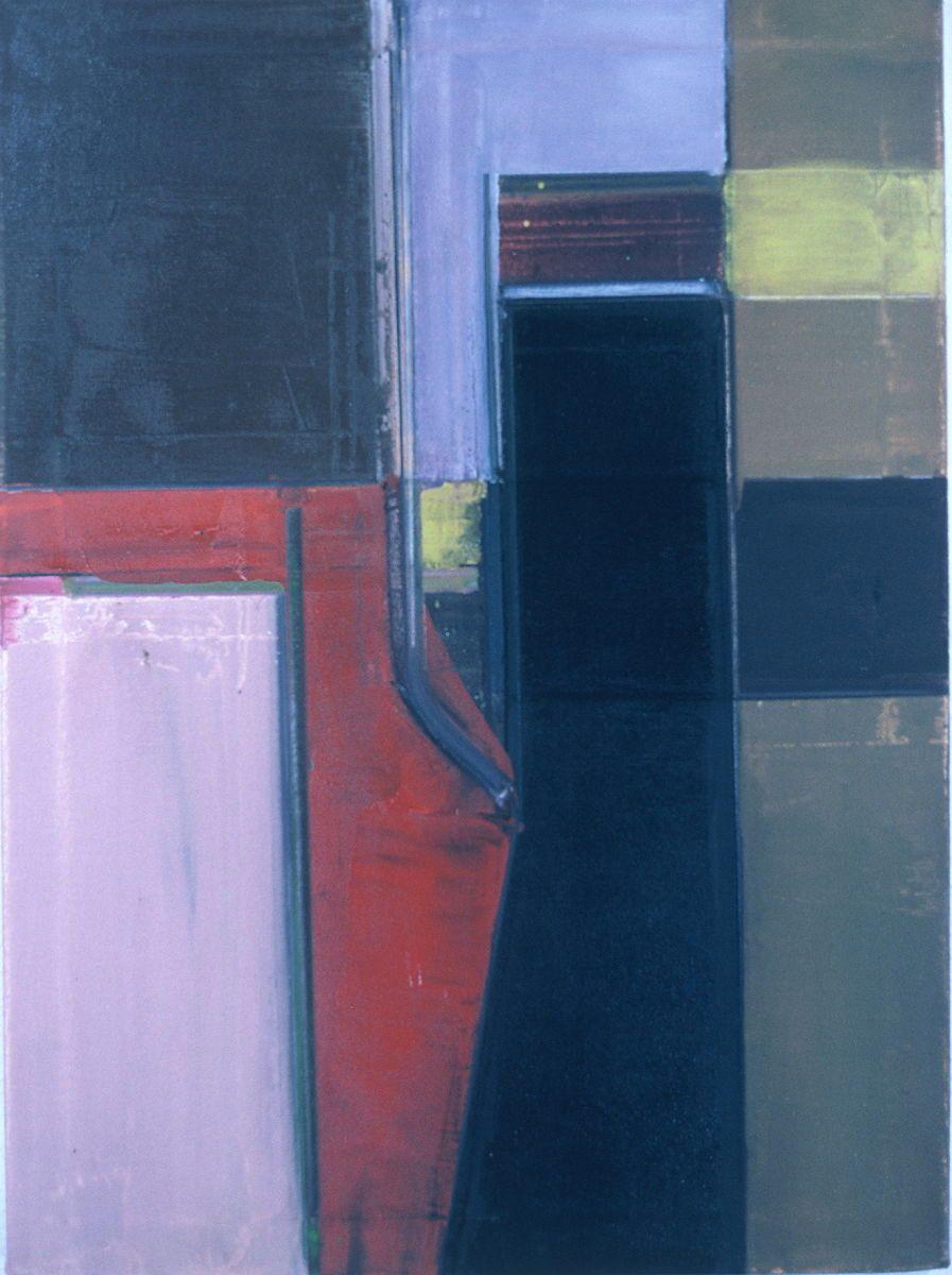 "Composition w BLACK FIGURE   1976   Berkeley 30 x 22""   , oil on canvas"