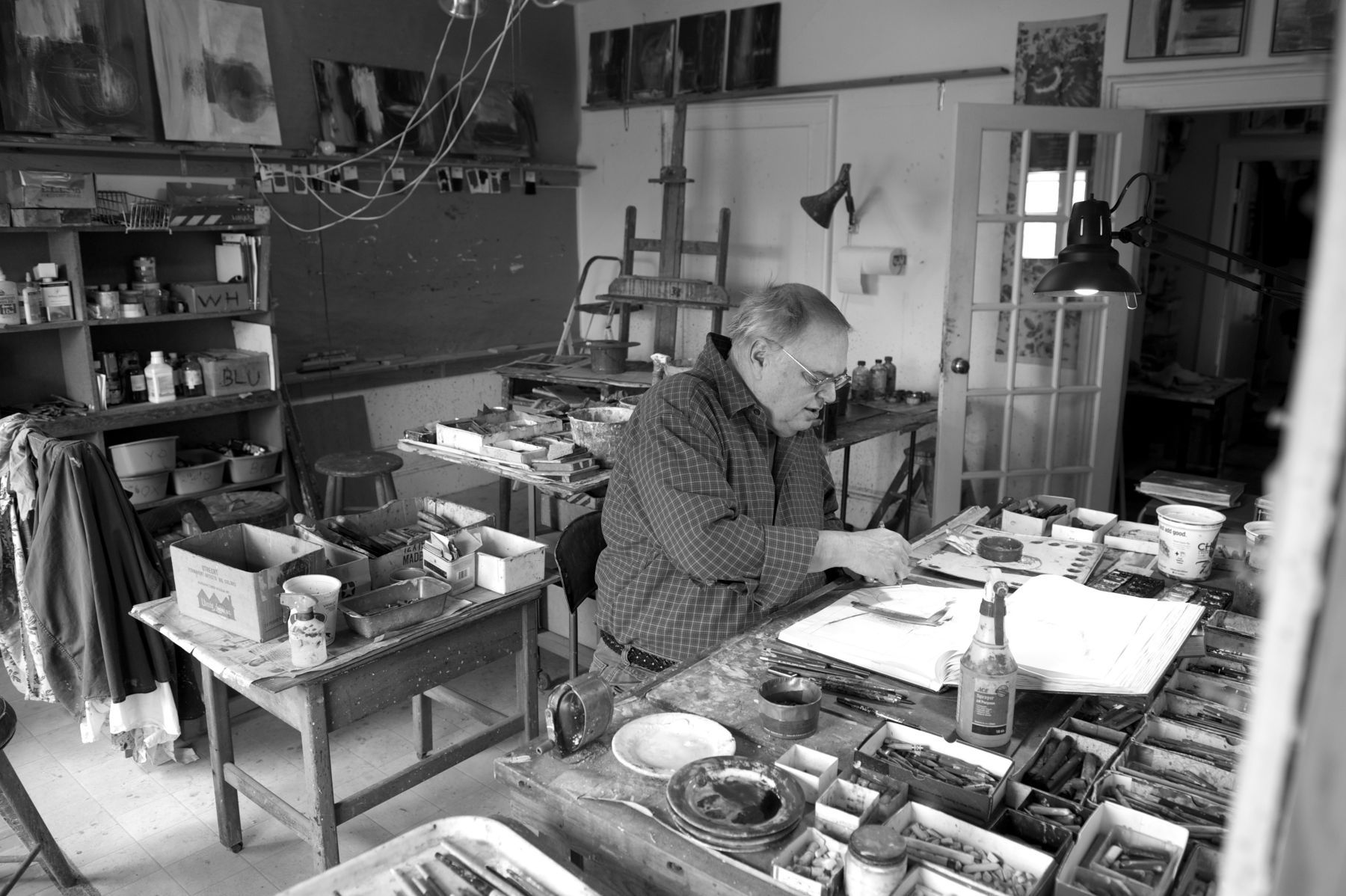 GEORGE LLOYD at WORK , March 2014 photo by Russell FRENCH