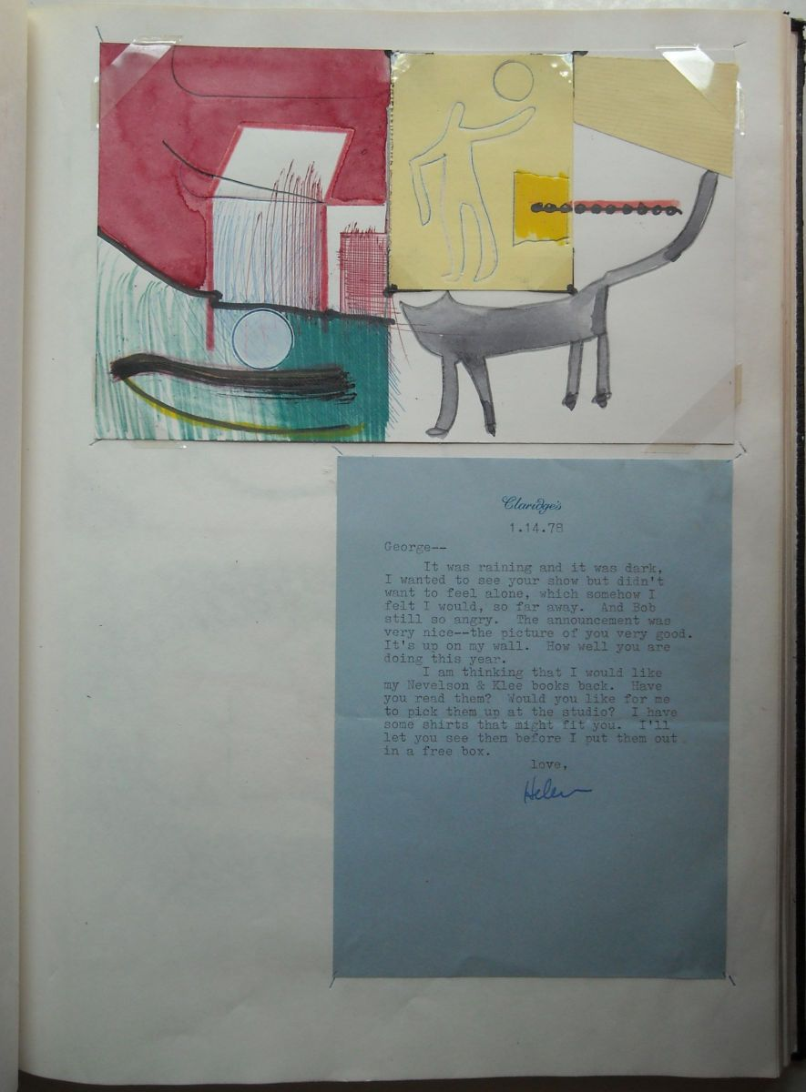 Composition w LETTER from HELEN 1978 Berkeley