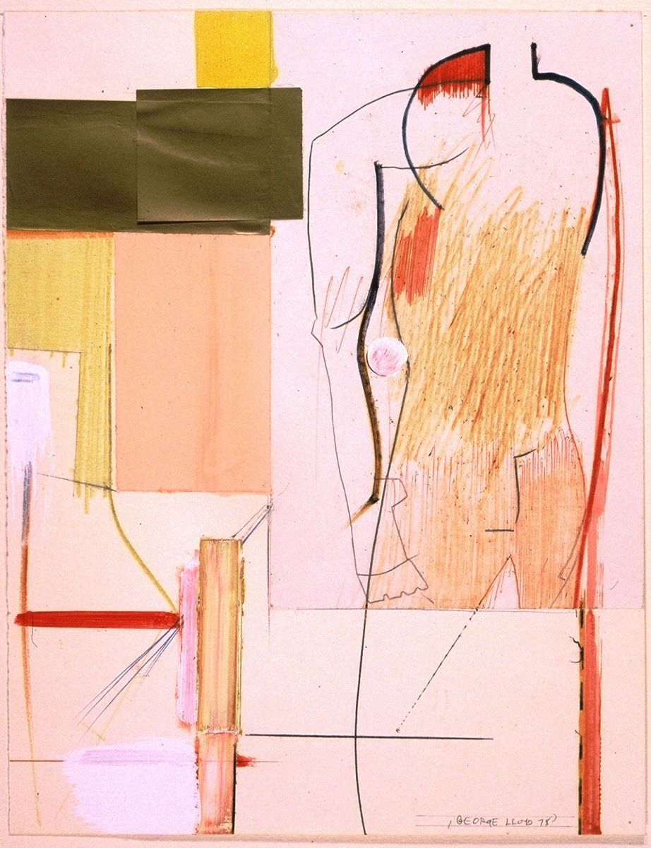 Composition w   FIGURE    1978     Berkeley 12 x 9""