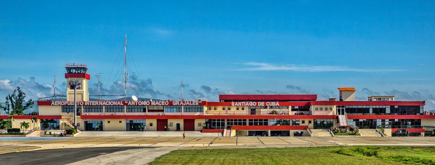 Santiago airport.  Santiago de Cuba