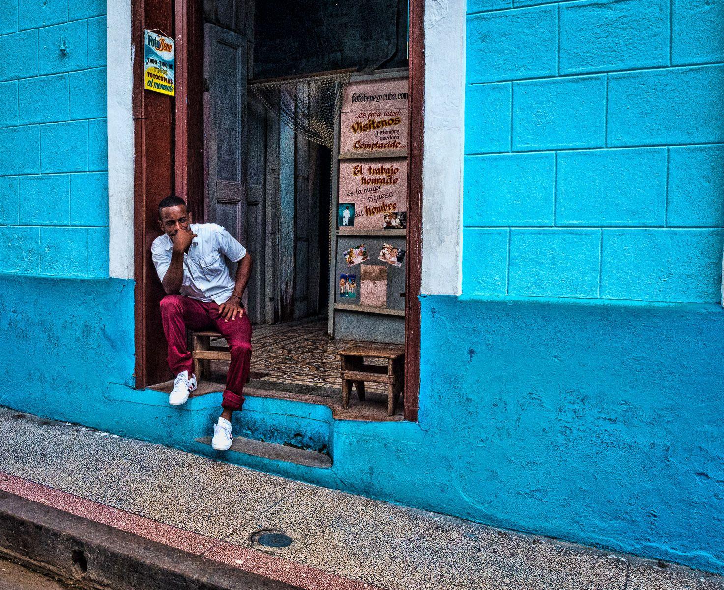 Afro Cuba man in Santiago de Cuba.