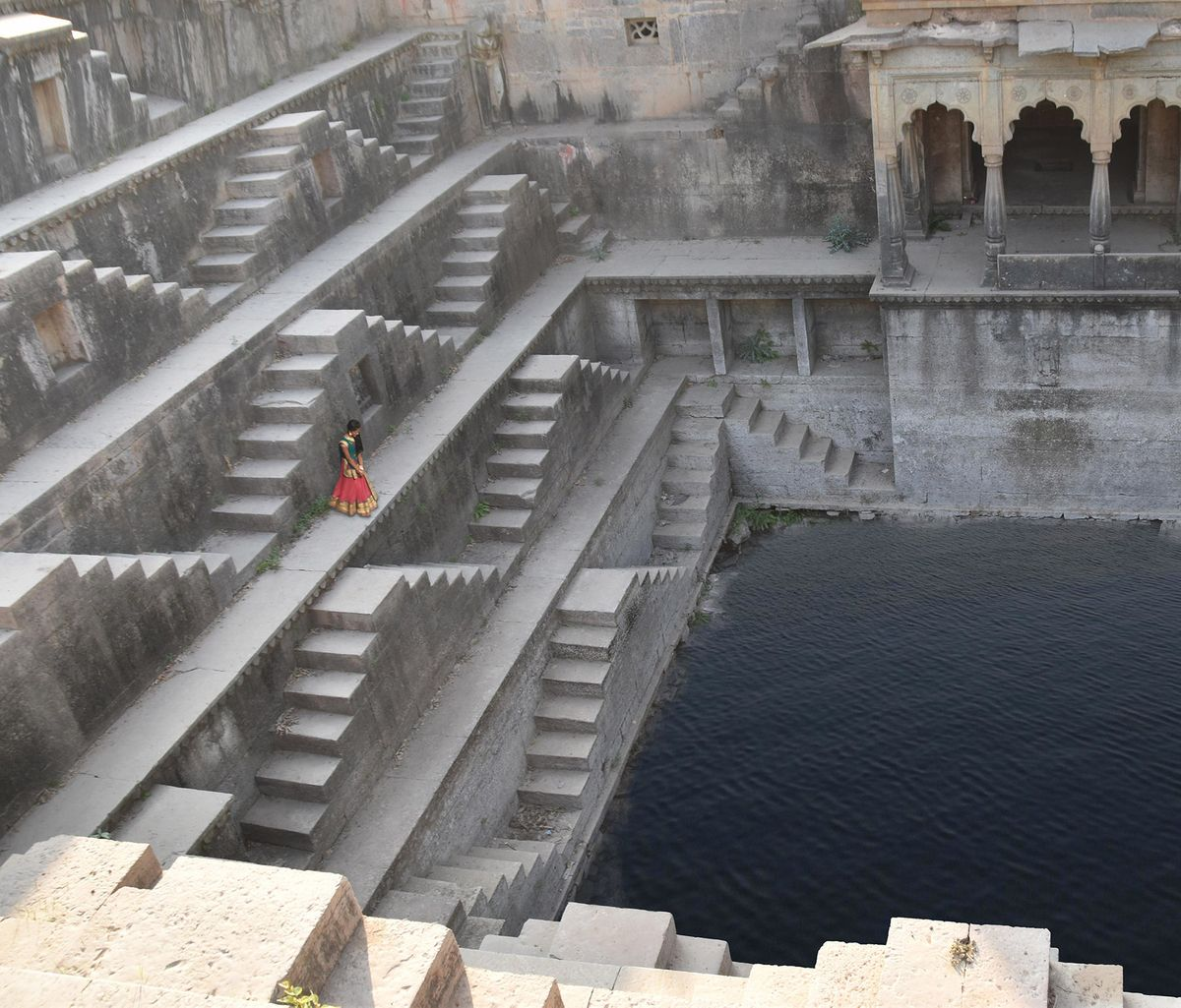 The girl at the step well