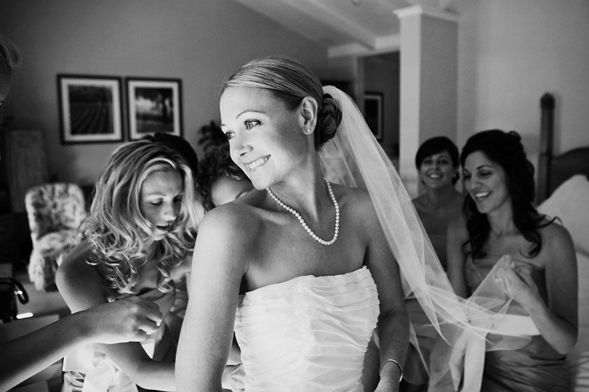 Carmel wedding bride getting ready shot