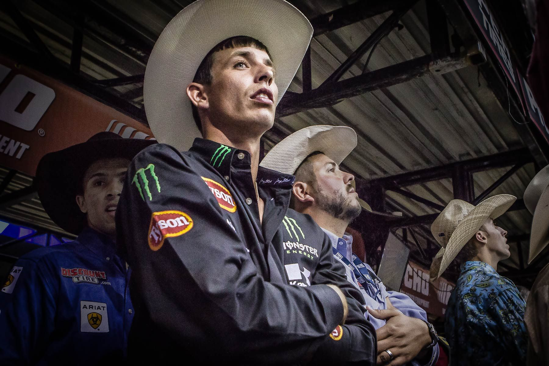 PBR Bull Rider waiting his turn