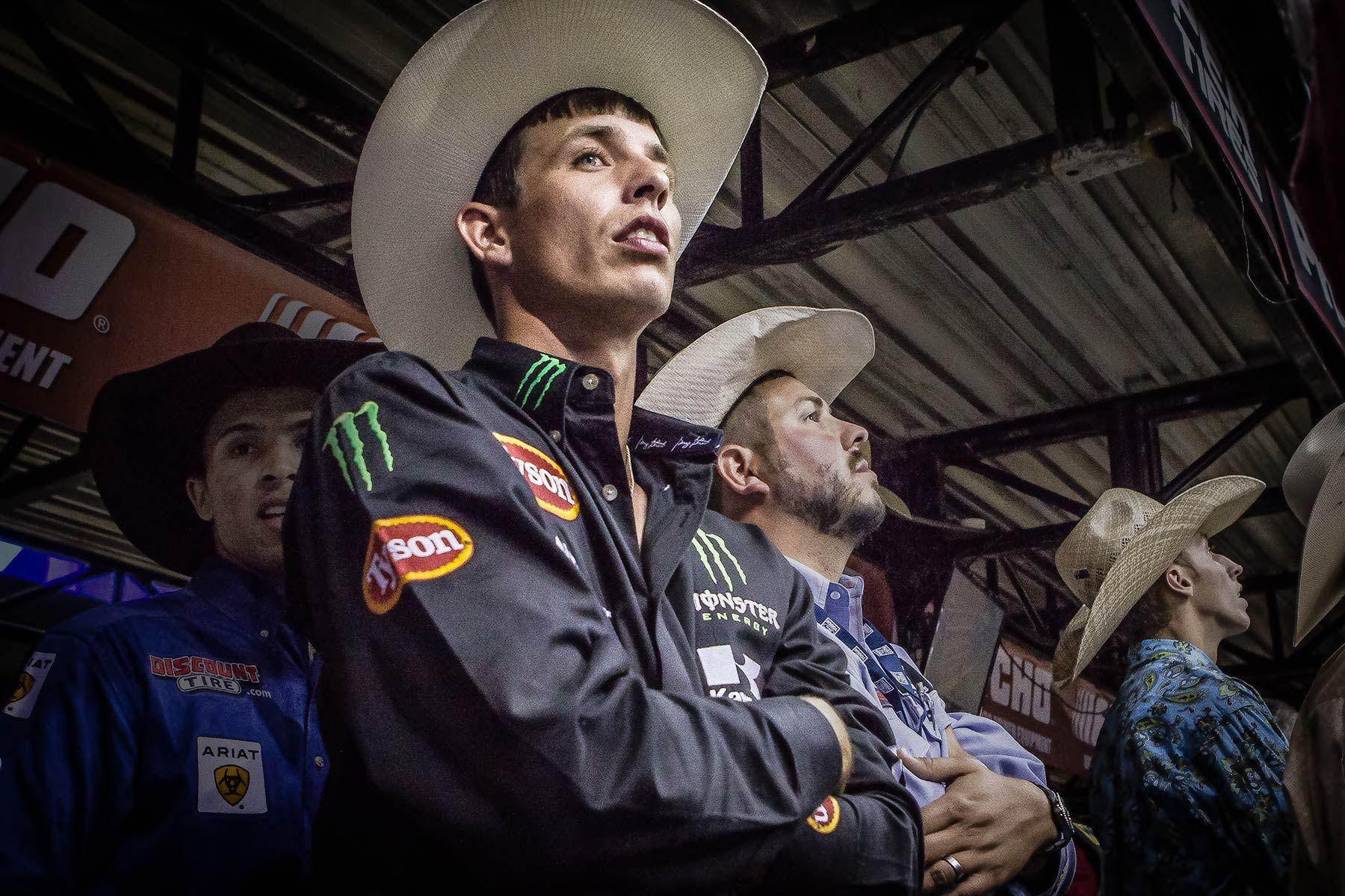 PBR Bull Rider waiting his turn