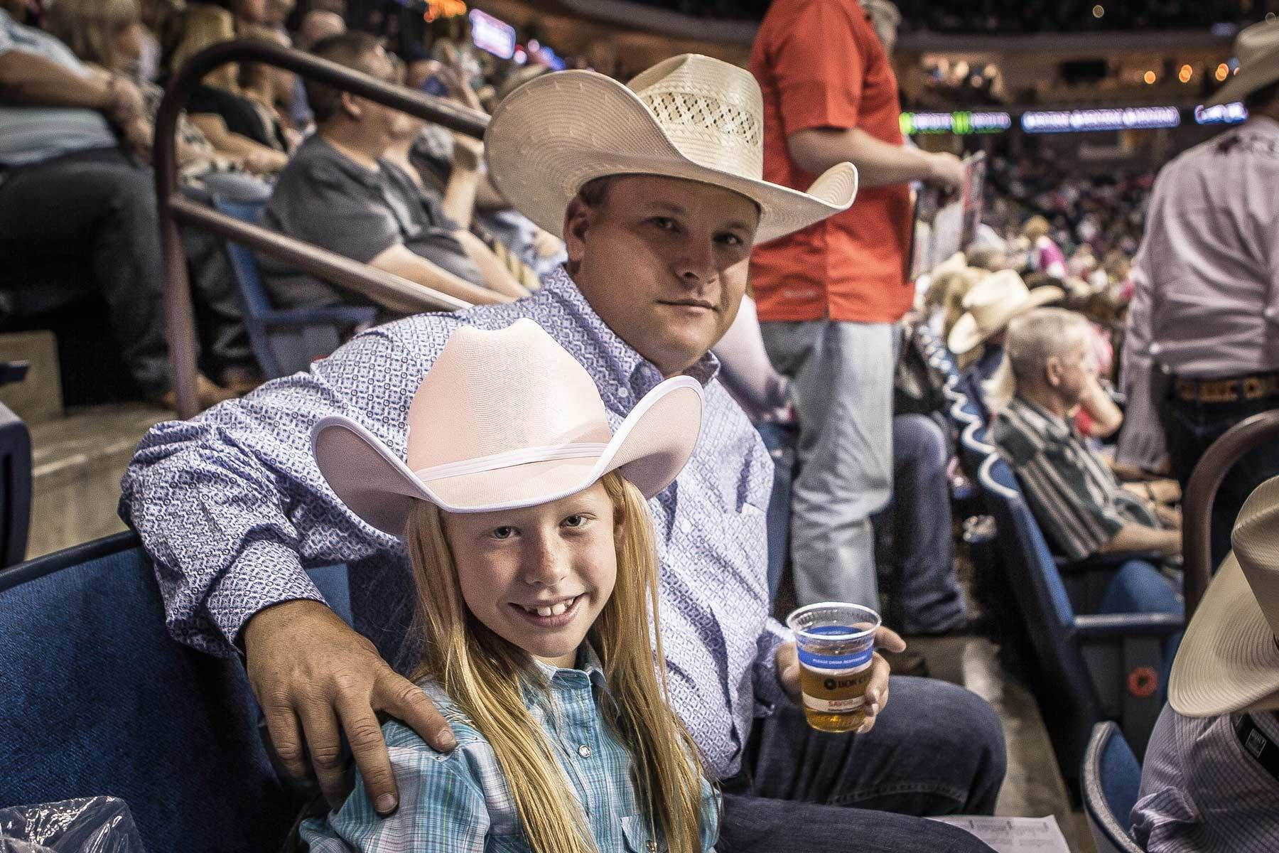 Little cowgirl with Dad