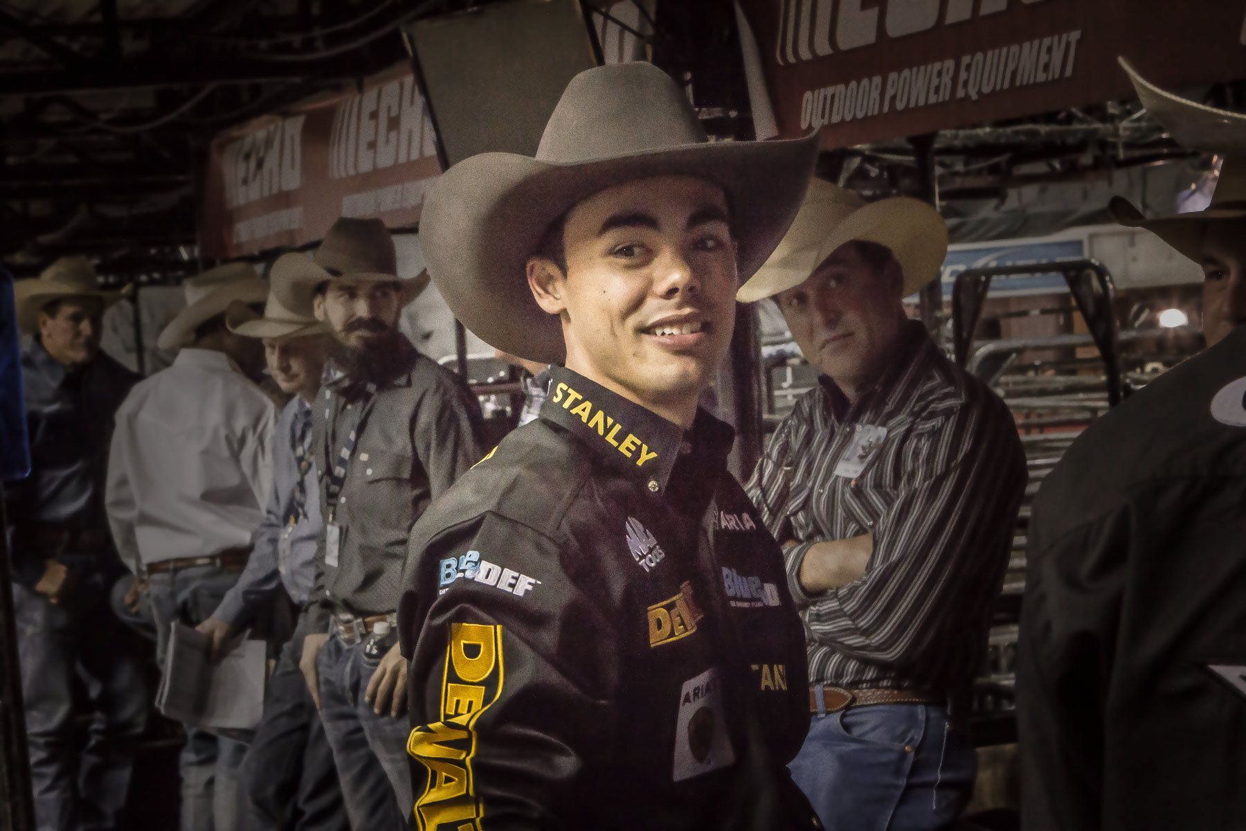 Happy Bull rider