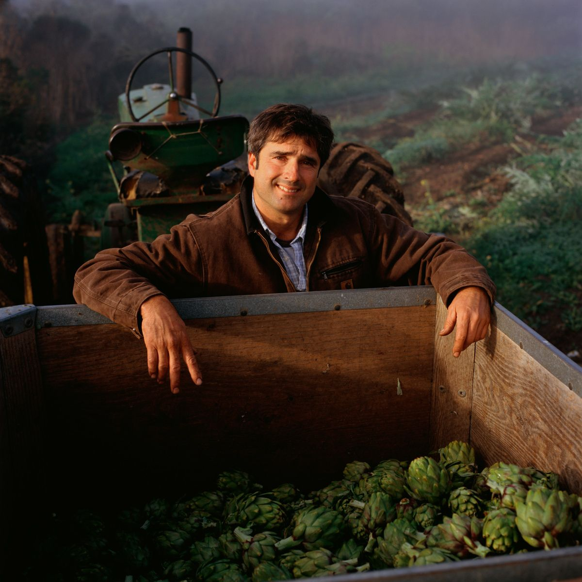John Guisti.Giusti Farms, Half Moon Bay. Family Farming since 1949. Brussel Sprouts, Artichokes.