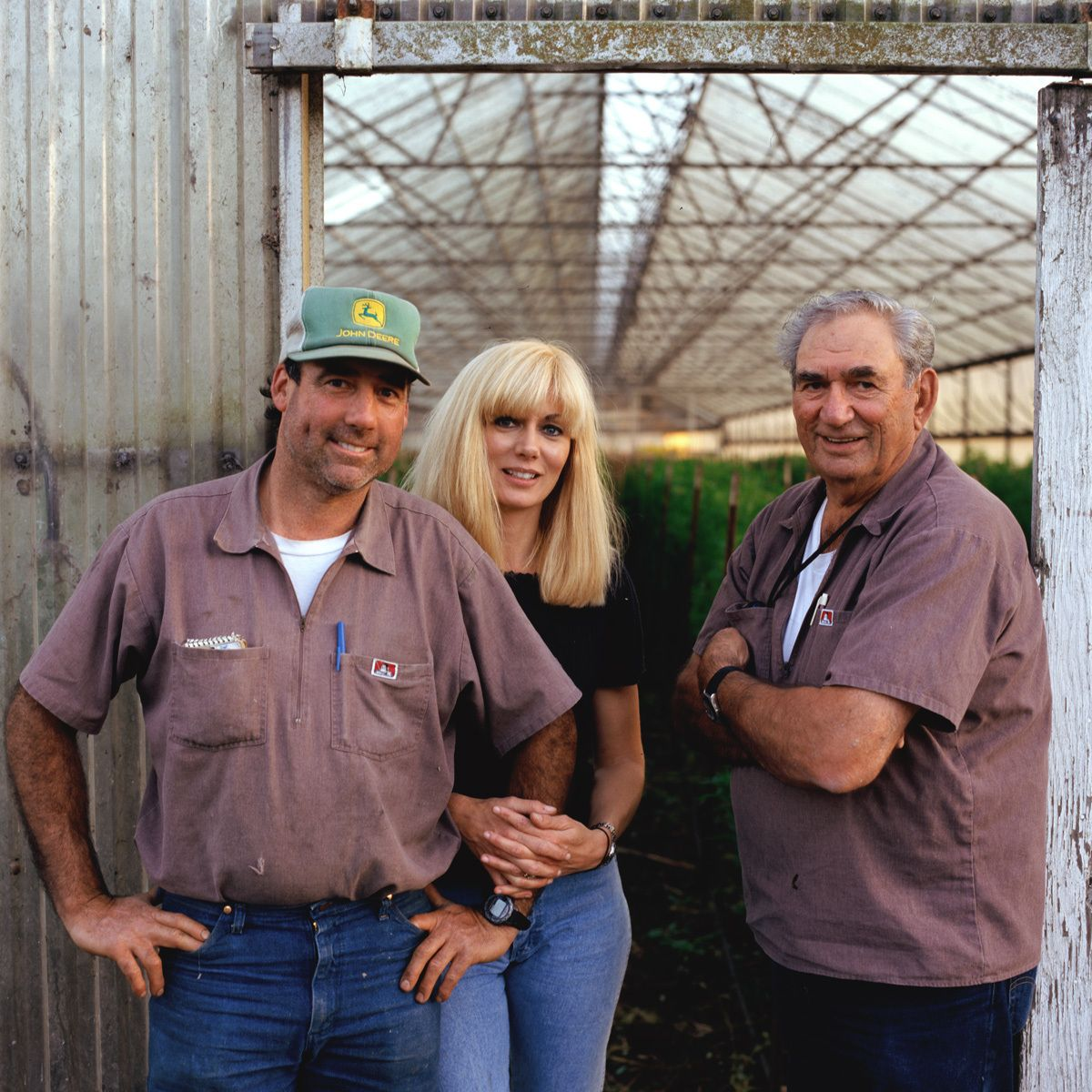 David, Kathy and Augie Repetto.Repetto's Nursery, Half Moon Bay. Family farming since 1955. Cut Flowers, plants.
