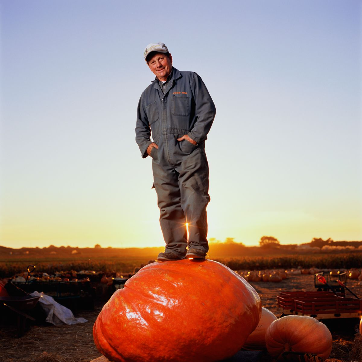 """Farmer John"" Muller.Daylight Farms, Half Moon Bay. Family Farming since 1947. Pumpkins, Flowers, Corn and Hay."