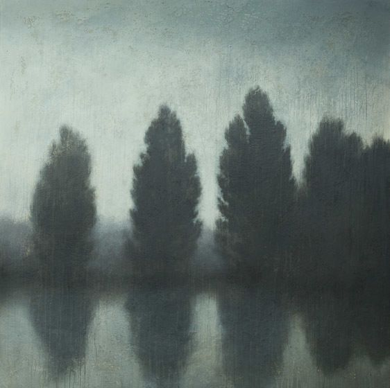 cedars on the river bank