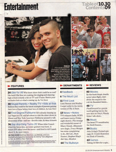 Entertainment Weekly,  Glee Cast members Lea Michele and Mark Sailing, October 30, 2009