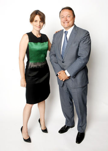 Actress Tina Fey and Frederic Roze', Managing Director North America, L'Oreal