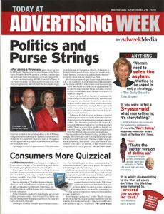 My picture of Jeff Zucker and Nancy Pelosi makes the cover of Advertising Week magazine. September 2010