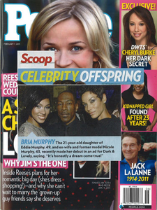 My picture of Bria Murphy, Eddie Murphy, Nicole Murphy make the Febuary issue of People Magazine.Client Bratskeir PR for Softsheen Carson