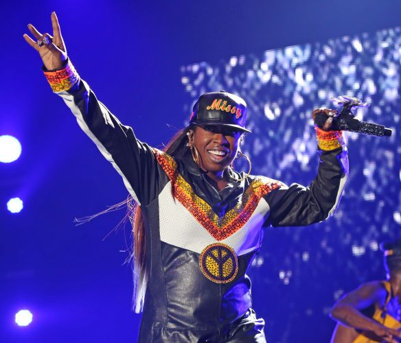 Missy Elliot performs during the 2015 Essence Festival, New Orleans, La.(Photo by Bennett Raglin)