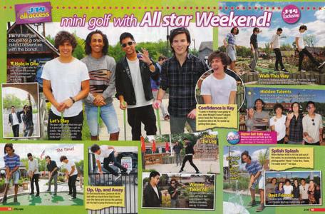 Mini Golf with All-Star Weekend, J-14 Magazine all access.  Photos by Bennett Raglin