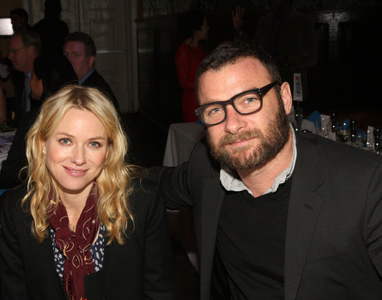 Actors Naomi Watts and Liev Schreiber attend 2012 New 42nd Street Gala  at The New Victory Theater on December 5, 2012 in New York City.  (Photo by Bennett Raglin)
