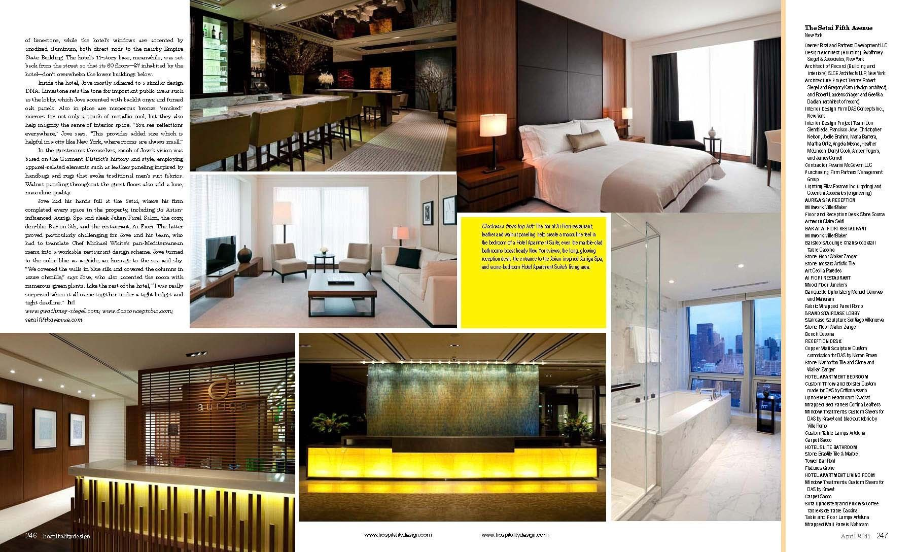 Hospitality Design April 2011