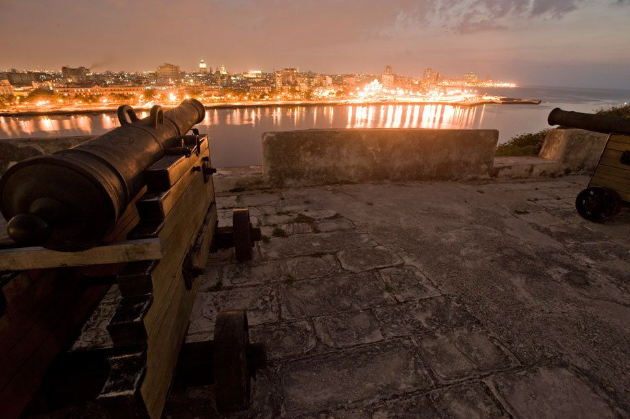 Havana by night as seen from La Cabana Fort